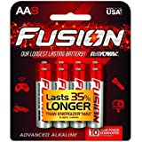 FUSION by Rayovac High-Performance AA Alkaline Batteries, 8-count