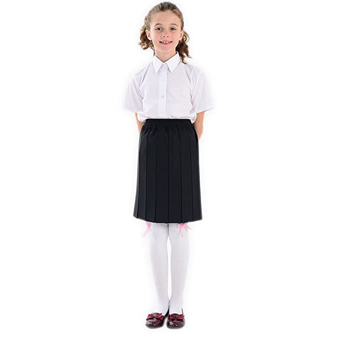 f6b0805a3f adam & eesa Girls Box Pleated Skirt - School Uniform Girls (Pack of Grey  Navy Black Skirt) UK Sizes - Ages 2-16: Amazon.ca: Clothing & Accessories