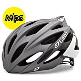 Giro Savant Road Bike Helmet, Matte Titanium/White, Medium