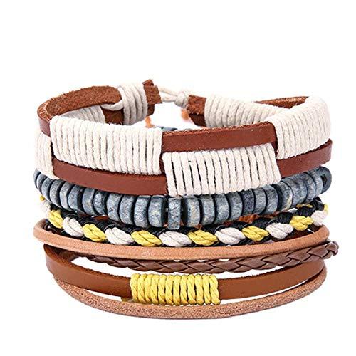 Bracelet Pattern Monet (Secret-Lover Bangles Mens Leather Bracelets Pulseira Masculina Jewelry Charm Bileklik Pulseiras Boyfriend,02)