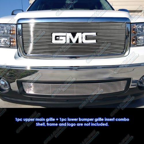 (APS Fits 2007-2013 GMC Sierra 1500 New Body/07-10 Denali Billet Grille Grill Combo # G67861A)