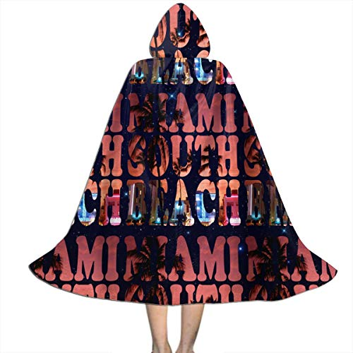 Halloween Miami South Beach (ABY14-YJ Kids Boys Girls Miami South Beach Long Hooded Cloak Cape for Halloween Party Role Cosplay Costumes)