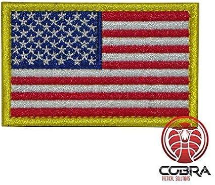 Cobra Tactical Solutions Bandera USA US Parche Bordado Táctico Militar Cinta de Gancho y Lazo de Airsoft Paintball Para Ropa de Mochila Táctica: Amazon.es: Hogar