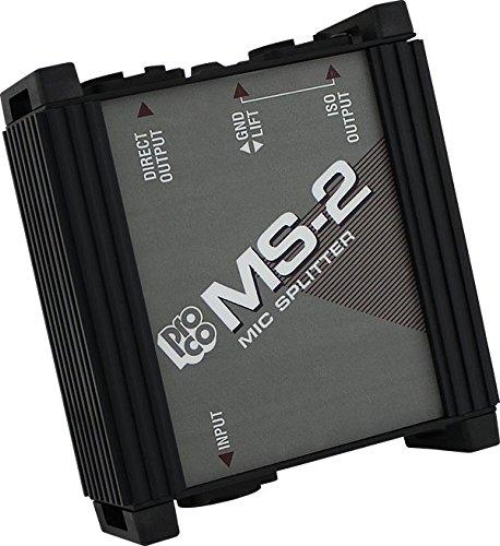 Mic Splitter Transformer - Pro Co Sound MS2 2-Way Microphone Splitter