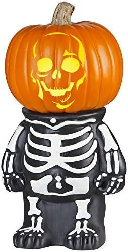 Amazon Com Hl Holiday Living Skeleton Pumpkin Stand Model 65617 Home Kitchen