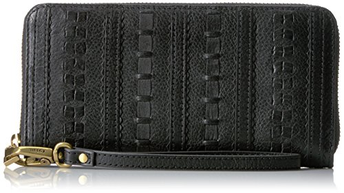 Fossil Emma Large Zip Wallet Rfid, Black