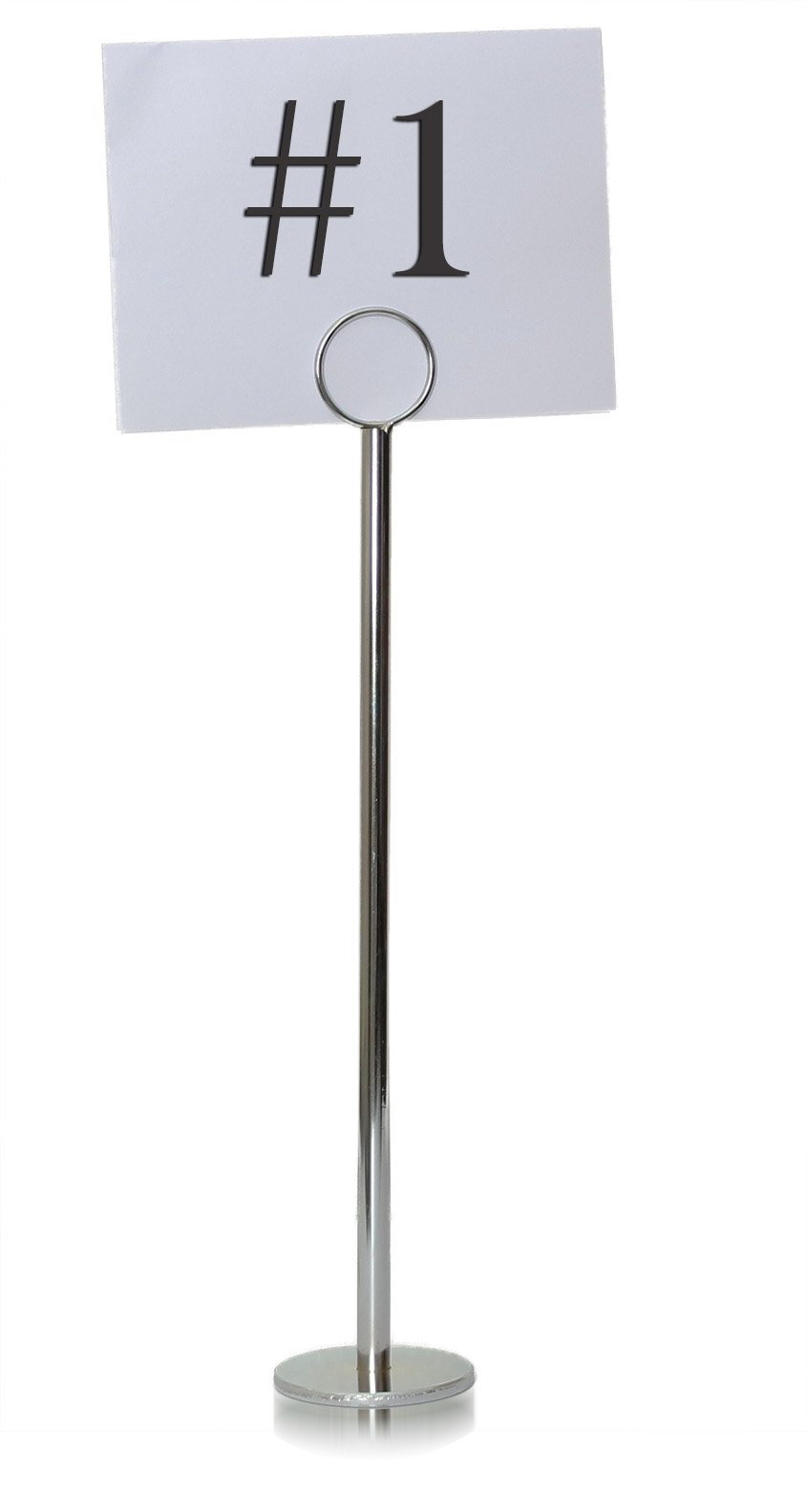 Tiger Chef Silver Table Number Holder Table Number Stands Place Card Holders Menu Holder, Sturdy Quality 12-inch (20, 12 Inch)