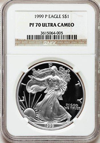 1999 P American Silver Eagle Dollar DCAM NGC PF70
