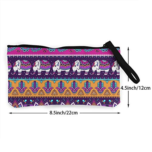 Coin Hamsa And Men Women Elephant Indian 3d Sd4r5y3hg Unisex Purse Canvas Pattern For Print Wallets zwR5E