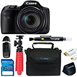 Canon PowerShot SX540 HS with 50x Optical Zoom and Built-In Wi-Fi + 16GB Memory Card + Pixi-Basic Accessory Bundle