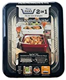 Fancy Panz FP21004 Casserole Portable Serveware, 13 x 11 x 3.5, Navy Blue