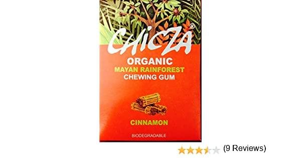 Chicza.Goma de mascar natural y organica. Canela: Amazon.es ...