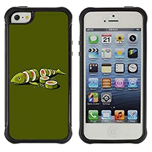 Hybrid Anti-Shock Defend Case for Apple iPhone 6 plus 6 plus Sushi Fish