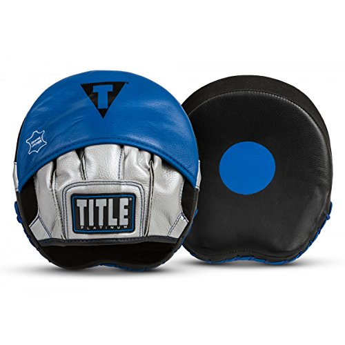 Title Boxing TITLE Platinum Perilous Micro Palm Mitts, Black/Silver/Blue by Title Boxing