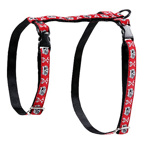 RC Pet Products 1/2-Inch Kitty Harness, Large, Pirate Cat