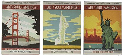 Deluxe 3-box Art & Soul of America Postcard Set