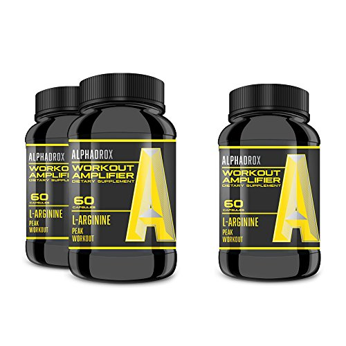 ALPHADROX Workout Amplifier - Increase Muscle Mass, Cut Recovery Time, EXPLOSIVE Workouts! Maximum Potency for Maximum Results! (3 Bottles)