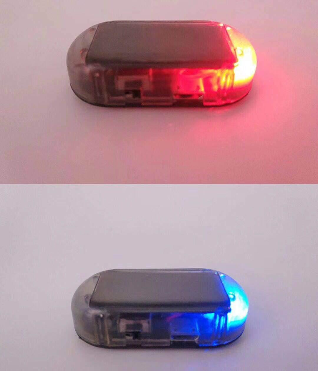 Be-one Solar Car Dummy Alarm LED Light, Simulated Imitation Security System Anti-Theft Flashing Blinking Lamp(Red + Blue)