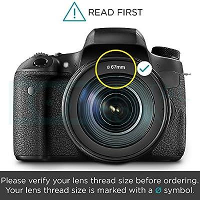67MM Altura Photo Tulip Flower Lens Hood for CANON Rebel T6i T6s T5i T4i T3i T3 T2i, EOS 700D 650D 600D 550D 70D 60D 7D 6D DSLR Cameras with 18-135MM EF-S IS STM Zoom Lens