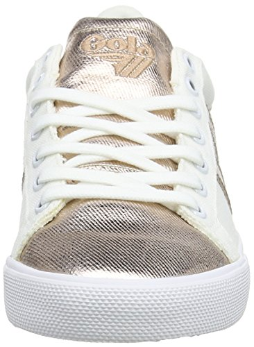 Gola White Size Sneaker Women's Leather Gold Orchid 8 Rose Metallic M qwZUx1Aq