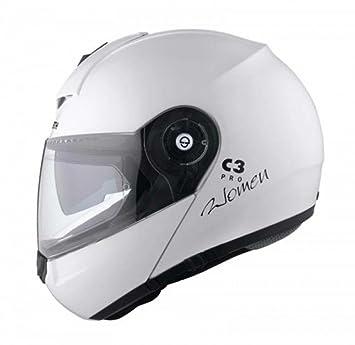 Schuberth C3 Pro Mujer Brillo Blanco Motocicleta Casco