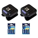 Cactus Wireless Flash Transceiver V6 II (2-Pack) with Varta 1.5V AA LR6 Alkaline Battery (2-Pack) Kit