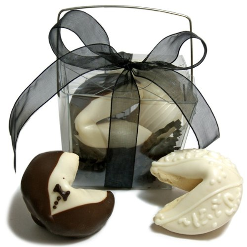 Bride & Groom Fortune Cookies- Take Out Pail of -