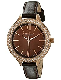 Bulova Caravelle New York Women's 44L124 Analog Display Japanese Quartz Brown Watch