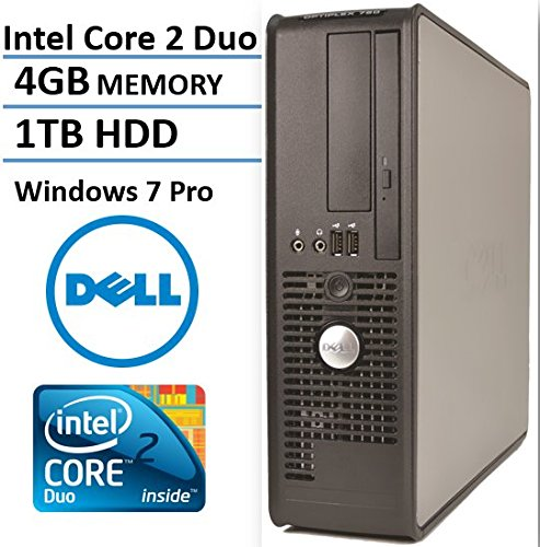Core 2 Duo Ddr2 Cpu - Dell Optiplex 760 Business Small Form Factor Desktop Computer, Intel Core 2 Duo E7500 2.93 Ghz CPU, 4GB DDR2 RAM, 1TB HDD, DVD, Windows 7 Professional (Renewed)