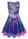 Girls Mermaid Tail Dresses Sleeveless Birthday