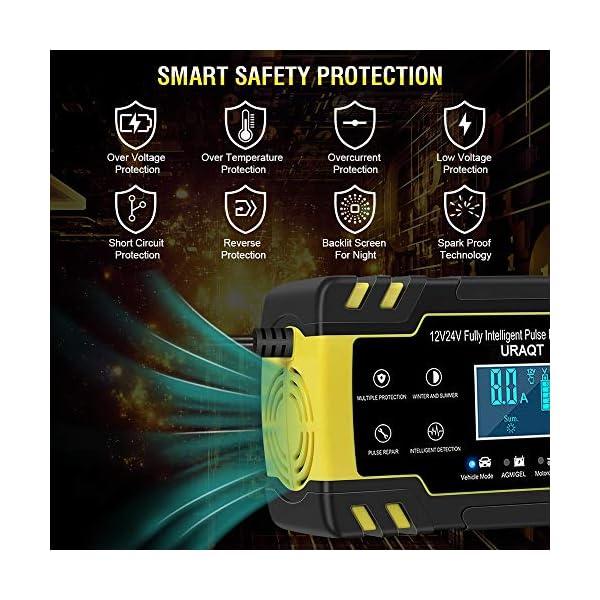 51LBTFYOKUL URAQT Autobatterie Ladegerät, Erhaltungsladegerät 8A 12V/24V, Aktualisierung Batterieladegerät Batterie Ladegerät für…