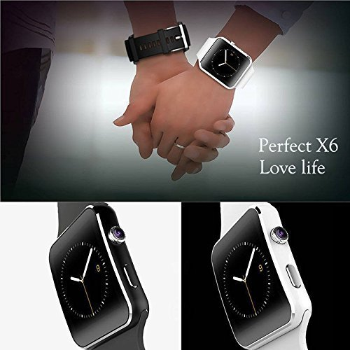 WELLTECH X6 Bluetooth Smartwatch with Camera and SIM Card Support, Apps, Pedometer, Sedentary Remind and Sleep…