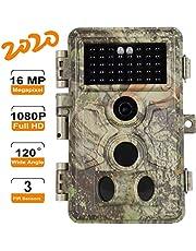 BlazeVideo Caméra de Chasse 16MP 1080P pour Suivre Le Jeu de Chasse d'animaux Sauvages, avec Vision Nocturne Activée par Le Mouvement, Grand Angle 120° et étanche IP66
