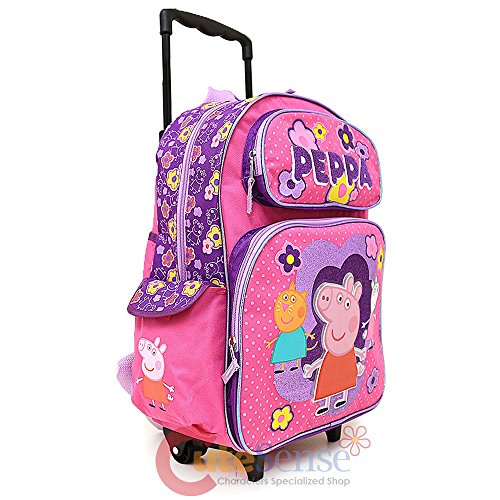 Amazon.com: Peppa Pig 16 inches Rolling Mochila grande con ...