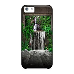 linJUN FENGDDy11999LQZa MikeEvanavas Painted Waterfall 3d Feeling iphone 4/4s On Your Style Birthday Gift Covers Cases