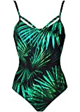 Blooming Jelly Women's Criss Cross Backless Swimsuit Tummy Control Swimwear One Piece Monokini