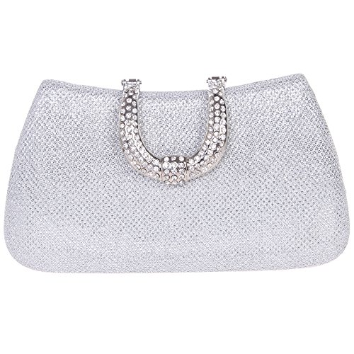 The Silk Flower with Pearl Women's Bridal Evening Bags - 8