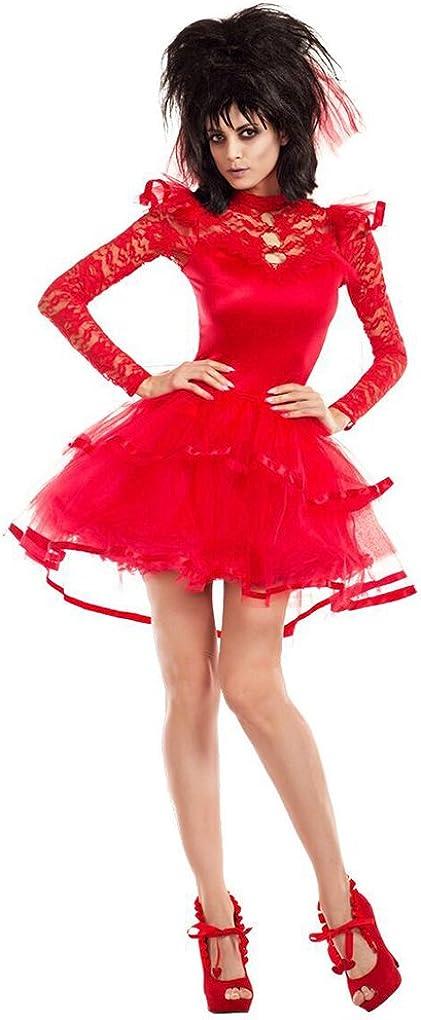 Faerynicethings Adult Size Beetlejuice Bride Costume Beetlejuise Lydia Red Wedding Dress Xl 14 16 Amazon Ca Clothing Accessories