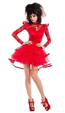 Amazon.com: Adult Size Beetlejuice Bride Costume -Beetlejuise Lydia ...