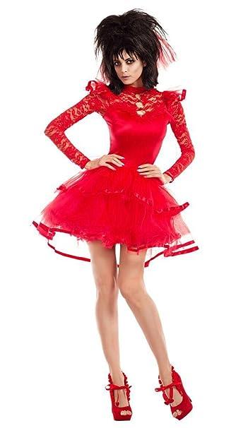 Amazon.com: Faerynicethings Adult Size Beetlejuice Bride Costume ...