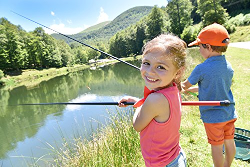Pink kids fishing pole starter set for girls by fishing for Kids fishing gear