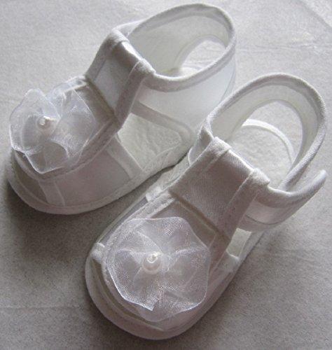 Taufschuhe Baby Schuhe Mädchen Sandalen Taufe Lauflernschuhe Weiß Satin Größe