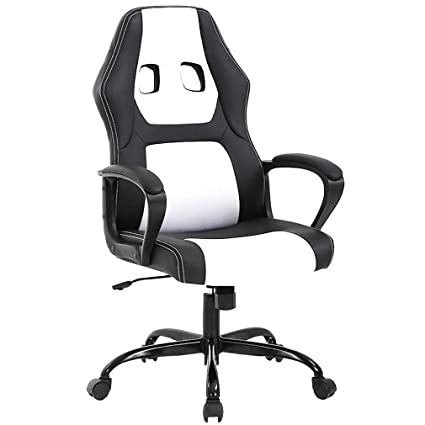 Amazing Bestoffice Office Chair Gaming Desk Racing Gaming Chair High Back Computer Chair Task Swivel Executive Seat Leather Chair For Home Office White Squirreltailoven Fun Painted Chair Ideas Images Squirreltailovenorg