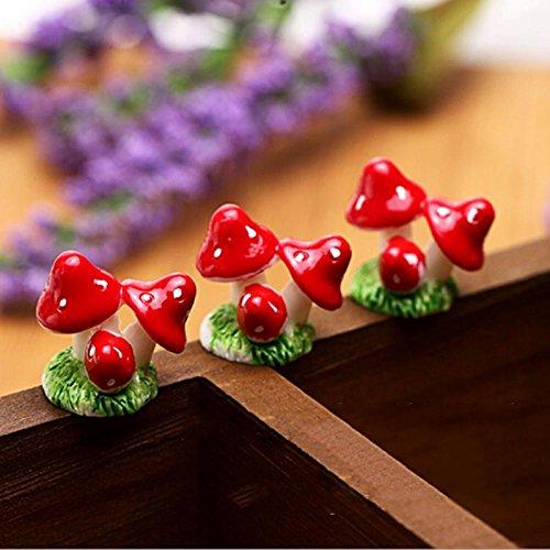 Dollhouse Miniatures Flower Plant Pot Miniature Dolls House Ornament Red