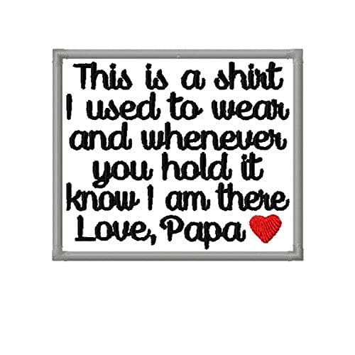 Heart Shaped Personalised Memory Dedication Patch for Bear This is a shirt