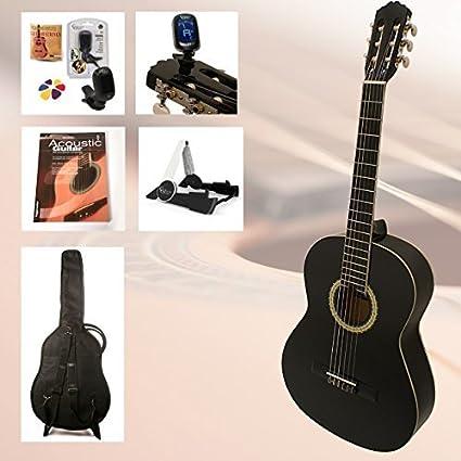 Set de guitarra de principiantes Black Belle-3/4-Guitarra de ...