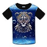 Elcacf Kids/Youth Gepard in Africa T-Shirts Short Sleeve Children Tees