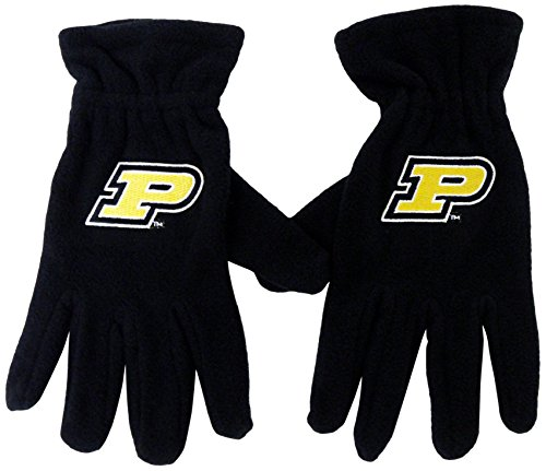 Donegal Bay NCAA Purdue Boilermakers Fleece Gloves, One Size, Black