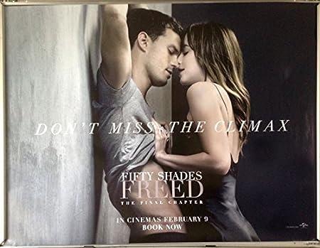 Favouritefilm Cinema Poster Fifty Shades Freed 2018 Climax Quad Dakota Johnson Amazon Co Uk Kitchen Home