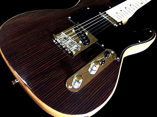TELE STYLE SOLID BODY 6 STRING ELECTRIC GUITAR EXOTIC STRIPED TONEWOOD TOP (Tele Style Guitar)